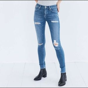 AGoldE Sz 26 Sophie High Rise Distressed Jeans